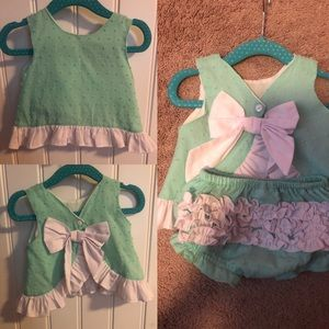 EUC Southern Smocked Co Bloomer set 3m